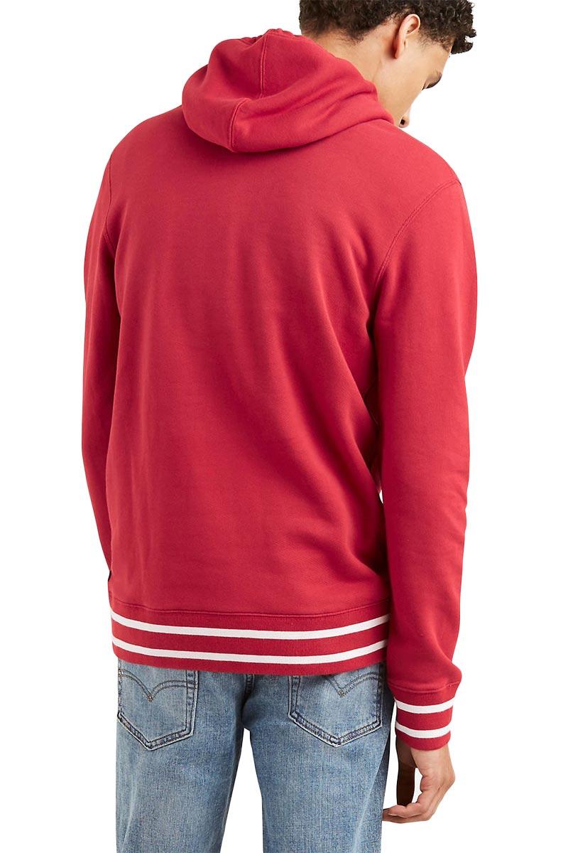 LEVI'S® graphic hoodie Housemark athletic rib crimson