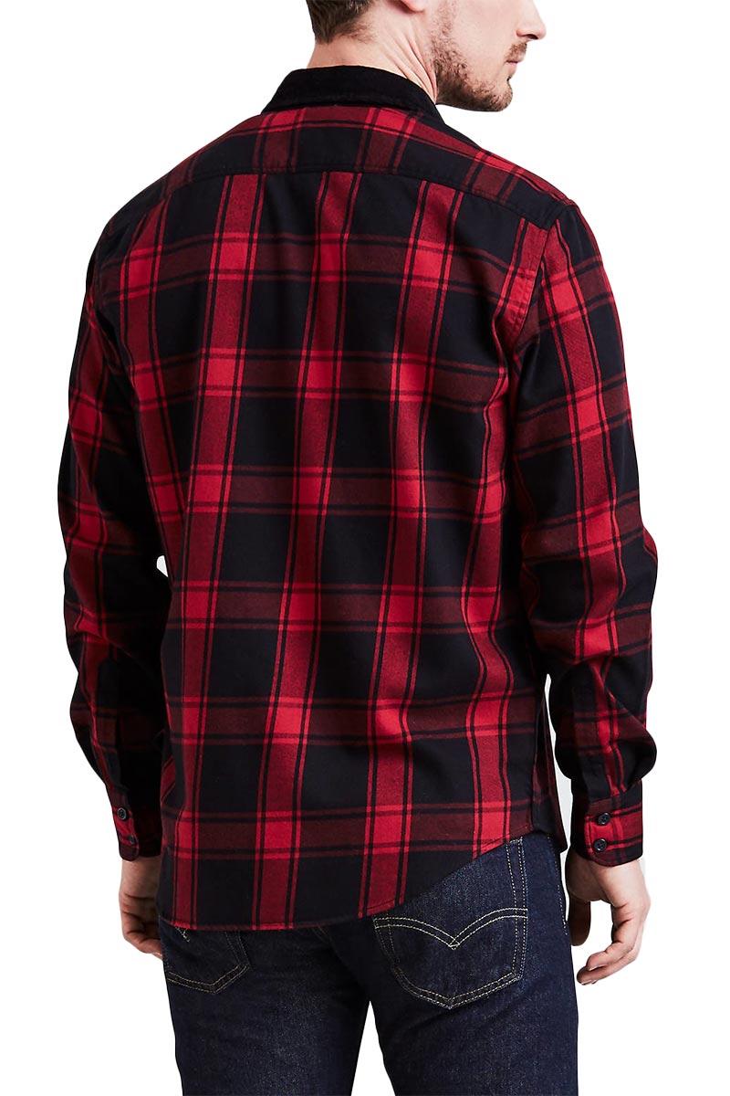 LEVI'S® Modern Barstow western shirt badger crimson
