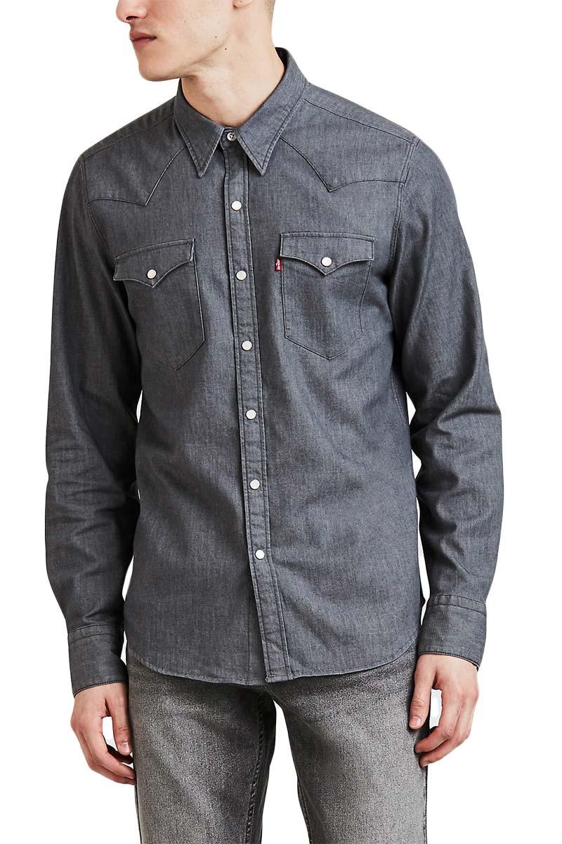 LEVI'S® Barstow western shirt grey stretch rinse - 65816-0273