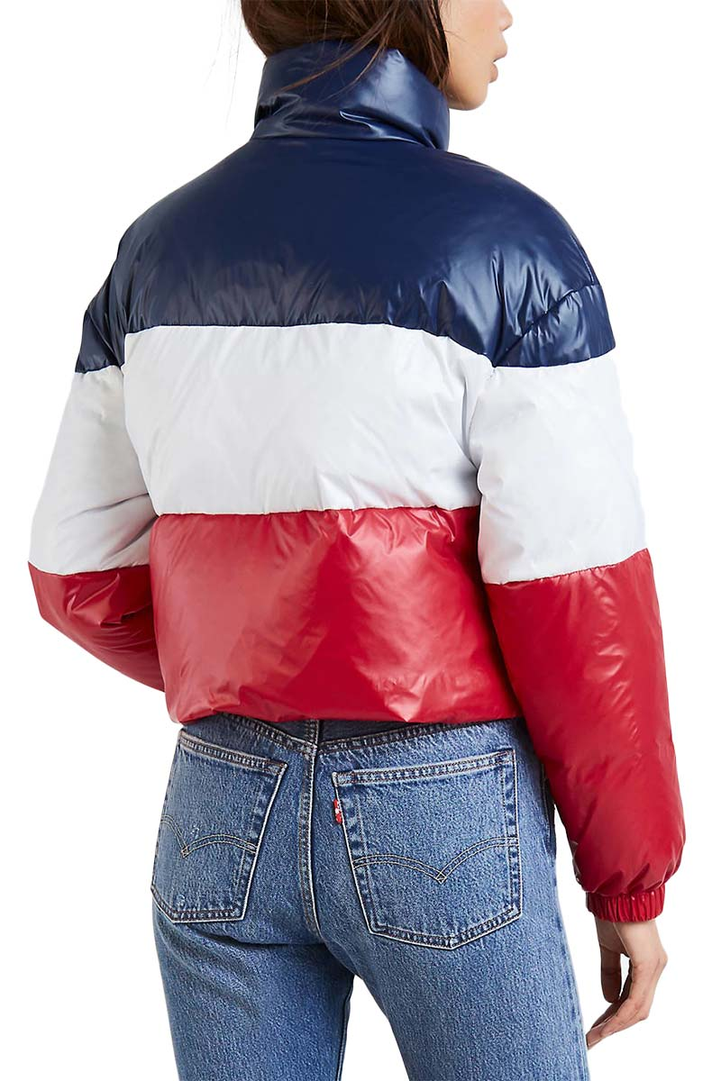 LEVI'S® Sam cropped puffer jacket peacoat colorblock