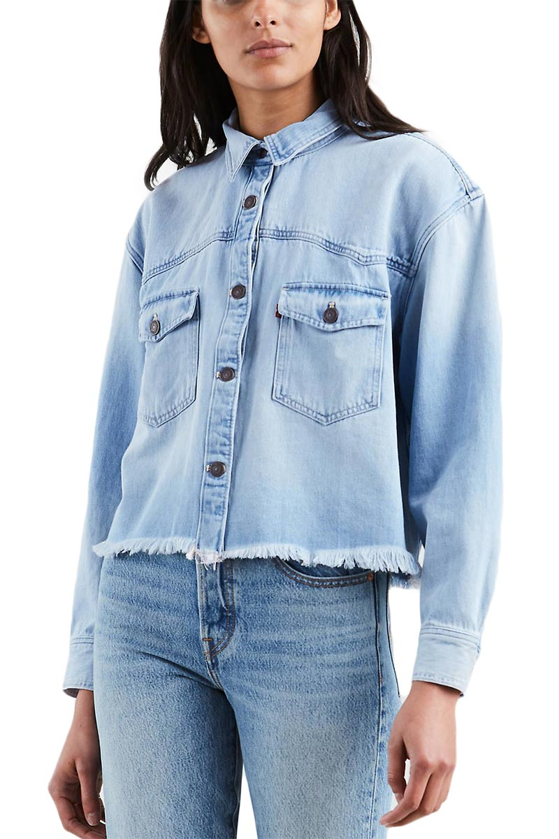 LEVI'S® Addison cropped denim shirt your best shot - 56402-0000