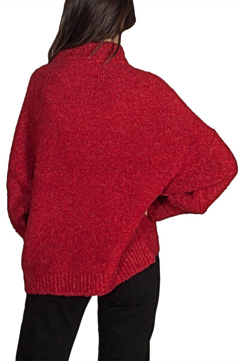 Minimum Tutt γυναικείο πουλόβερ βαθύ κόκκινο