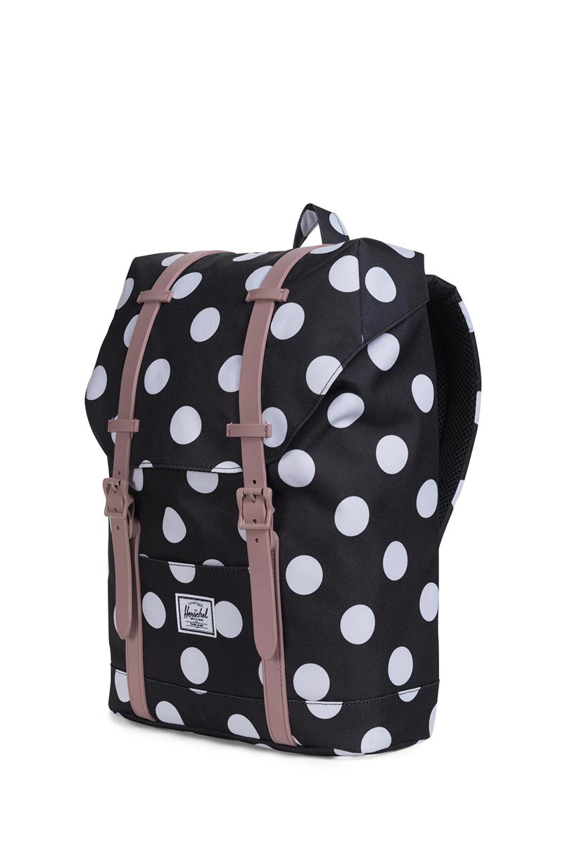 designer fashion fresh styles incredible prices Herschel youth backpack Retreat polka dot/ash rose