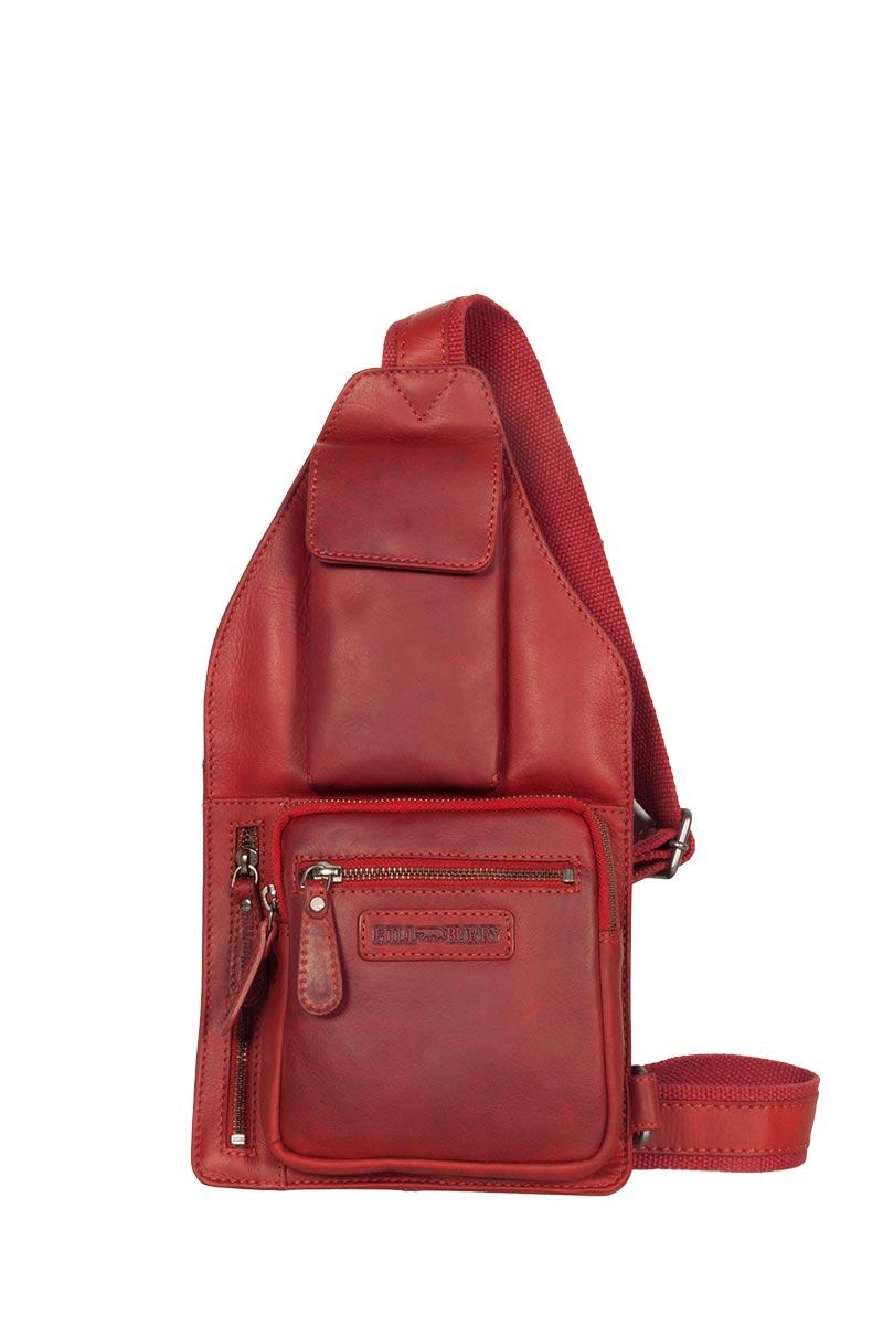 33a5490af5 Hill Burry ανδρικό δερμάτινο χιαστί τσαντάκι κόκκινο με εξωτερική θήκη  κινητού - vb100150-3338-