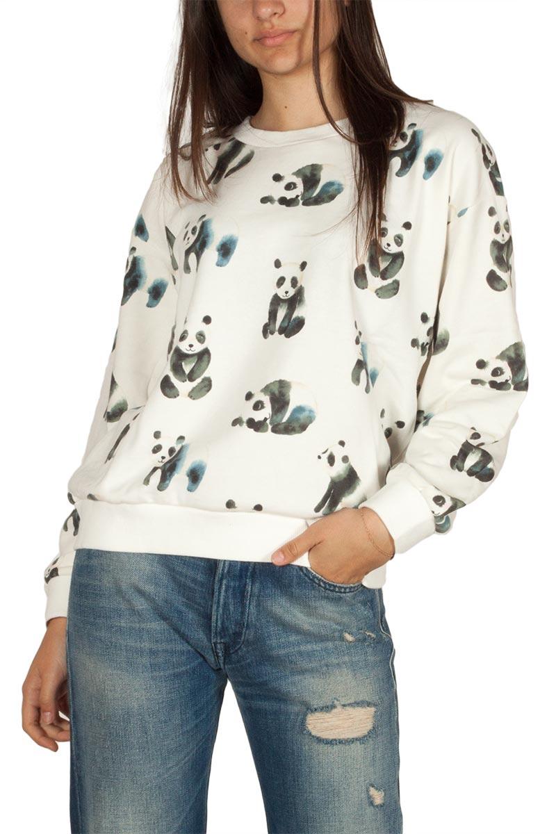 Pepaloves Pandas φούτερ μπλούζα εκρού - 108984