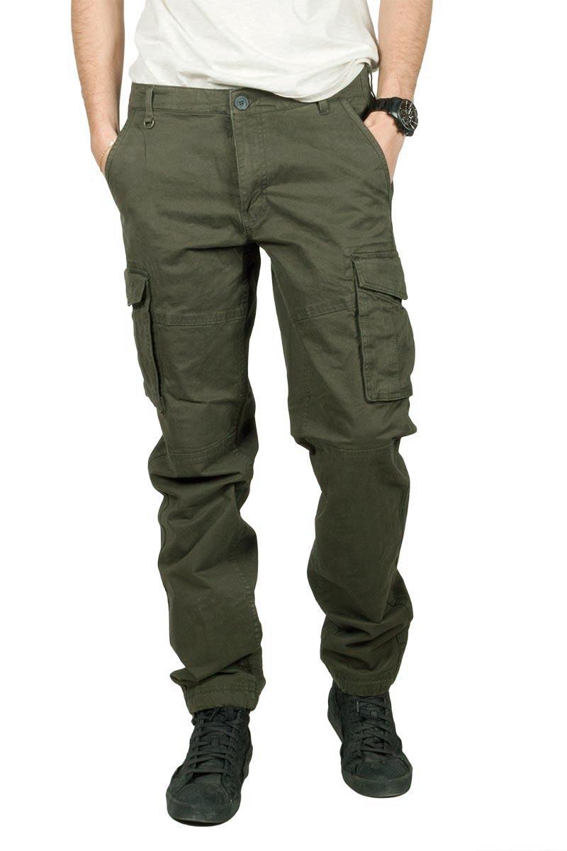 Gnious Rene cargo παντελόνι σκούρο πράσινο - 16-300133-gn