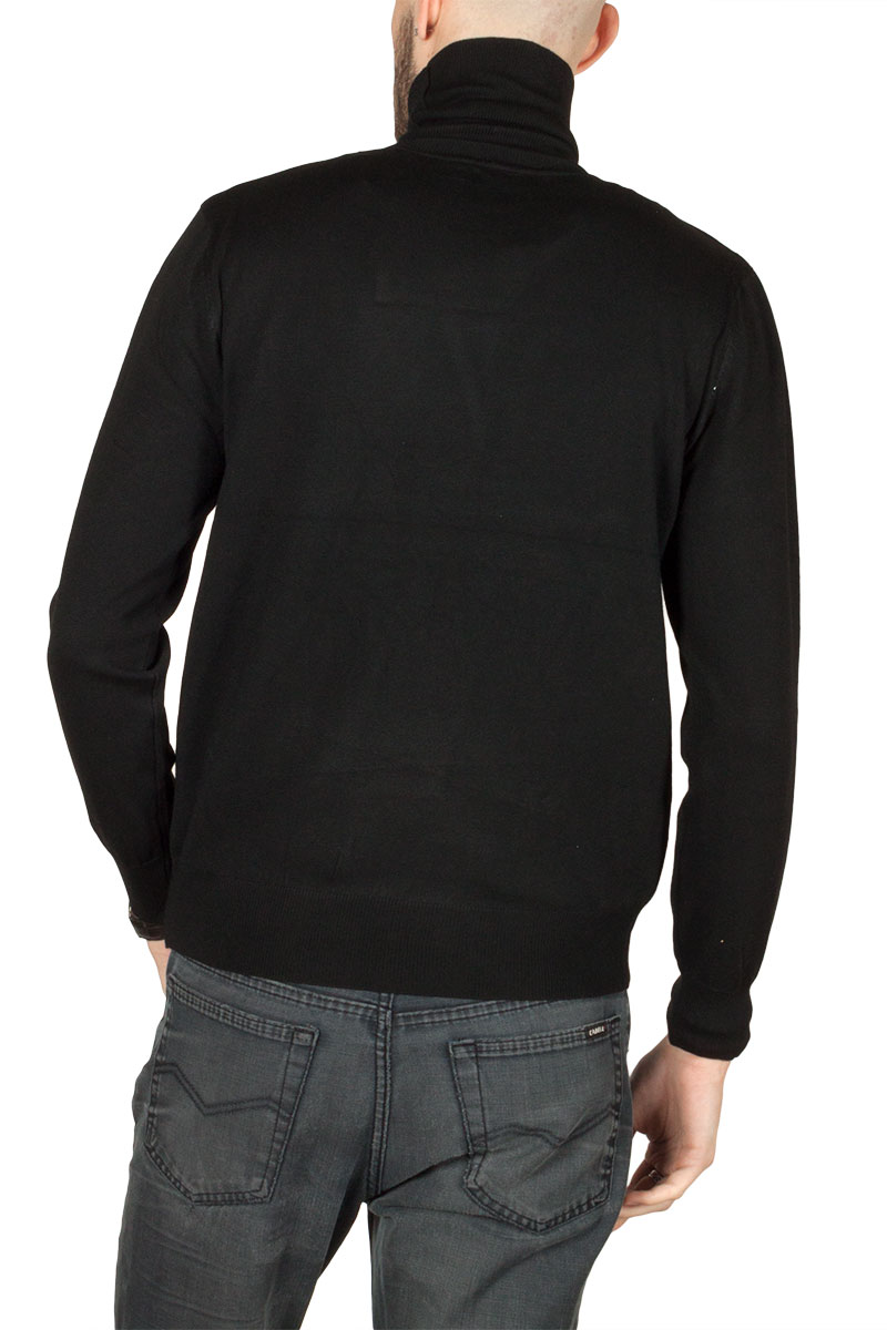 Ανδρικό πλεκτό ζιβάγκο μαύρο 5de1a3d26a7