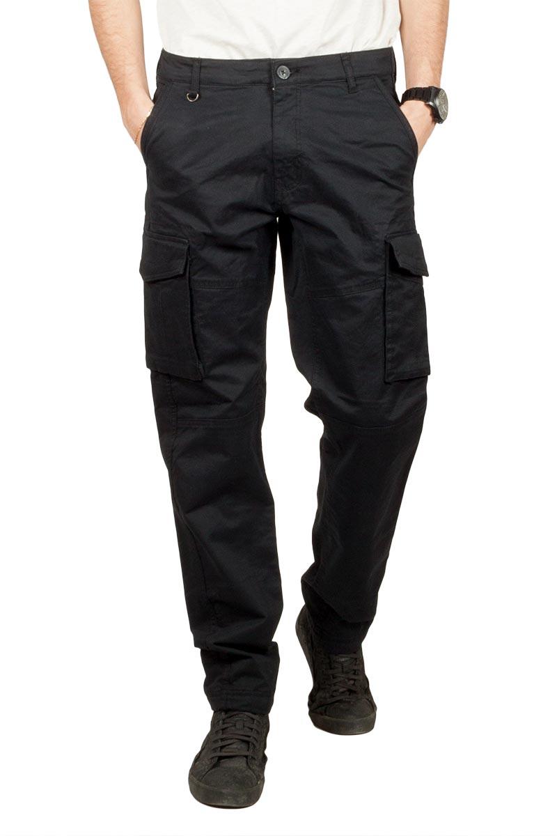 Gnious Rene cargo παντελόνι μαύρο - 16-300133-blk