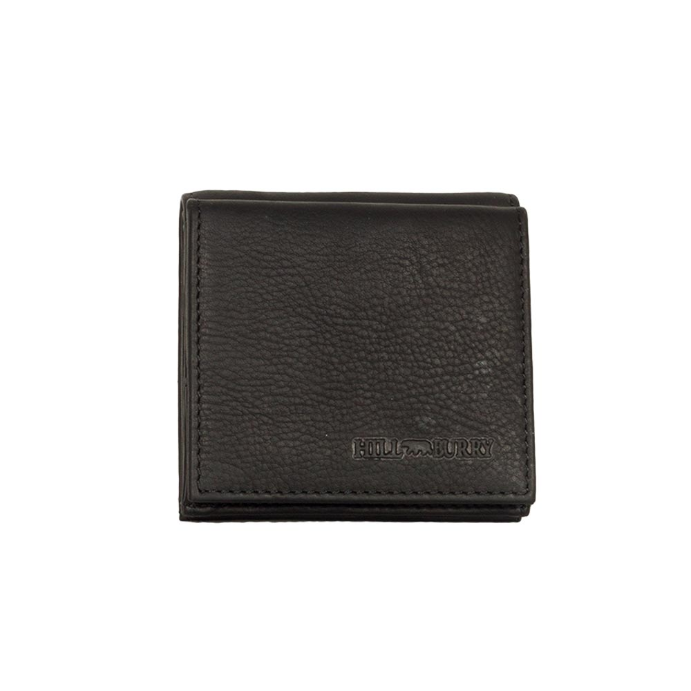 Hill Burry ανδρικό δερμάτινο πορτοφόλι μαύρο - v777037-5093-blk