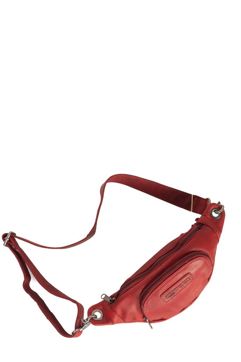 Hill Burry δερμάτινο τσαντάκι μέσης κόκκινο