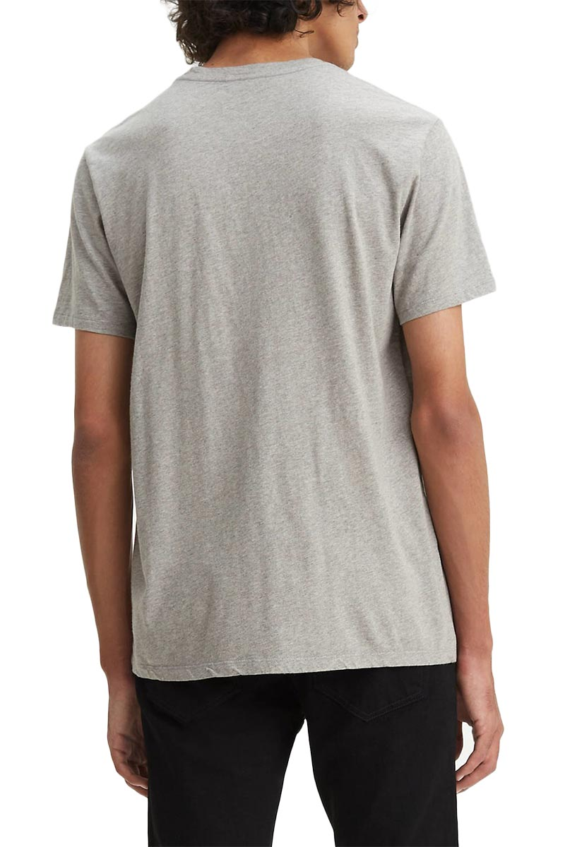 LEVI'S® graphic T-shirt set-in neck 2 boxtab midtone heather grey