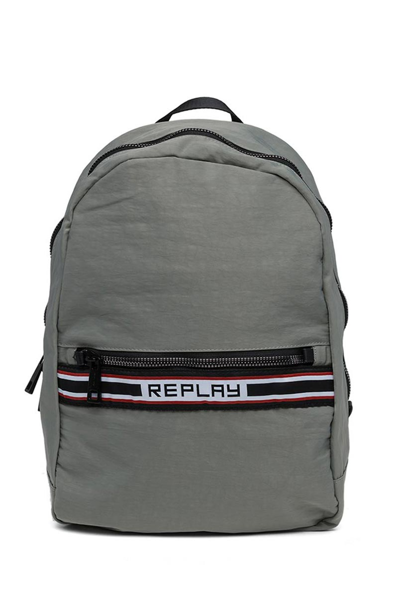 Replay crinkle nylon backpack grey