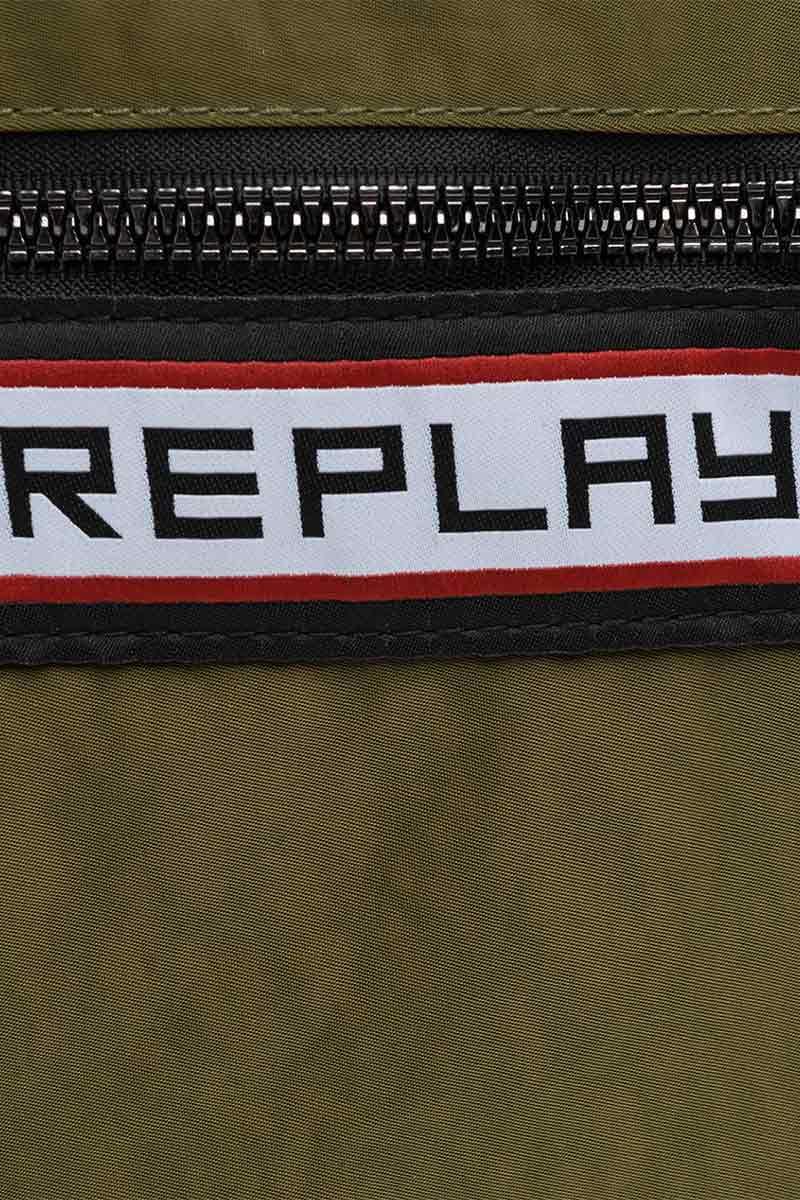 Replay crinkle nylon backpack military green