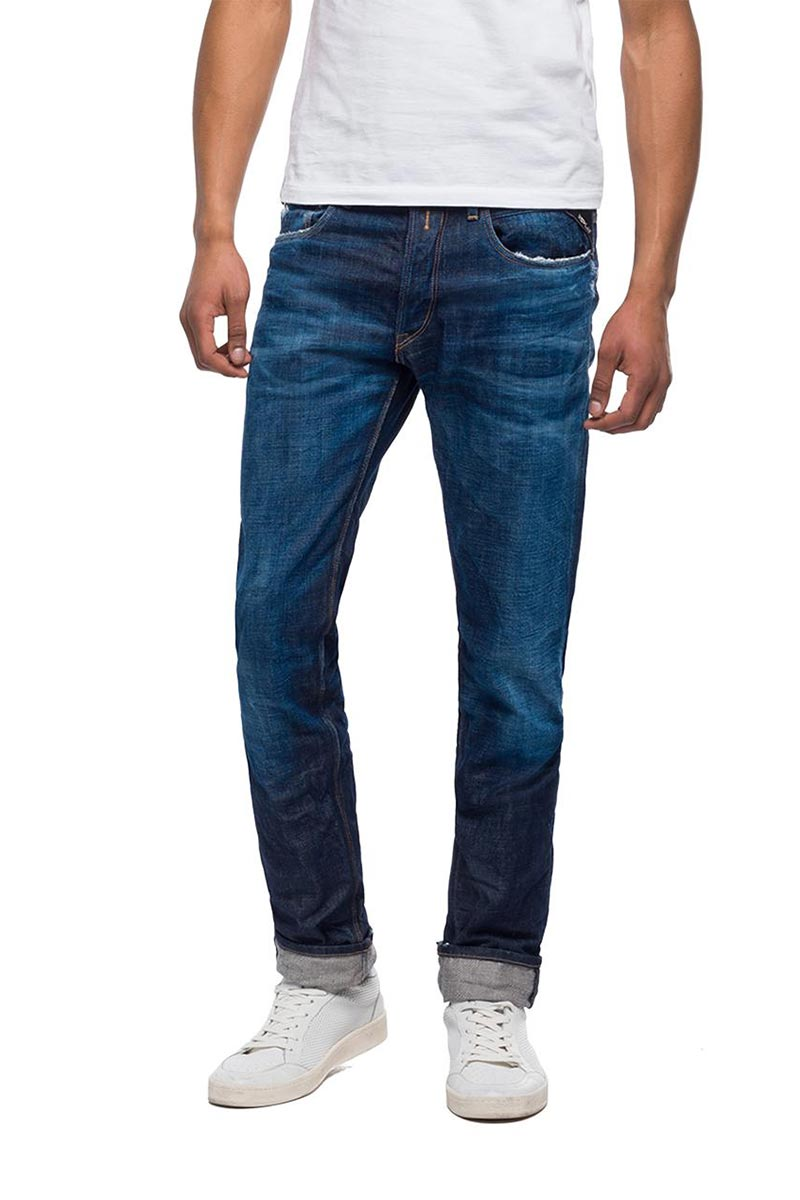 Replay Ronas slim fit jeans medium dark - ma946-000-136-322-007
