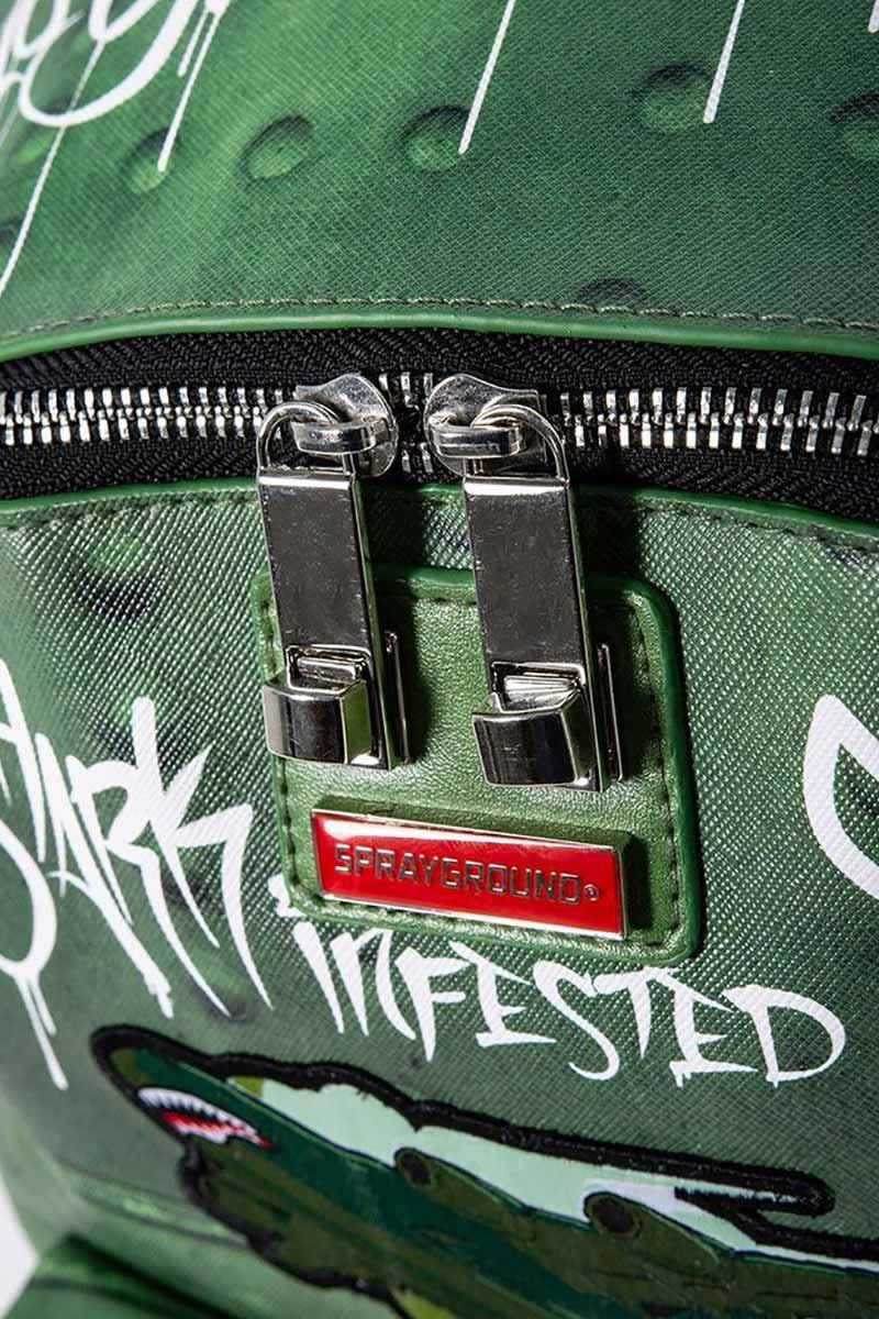 Sprayground backpack Shark Infested Skies olive