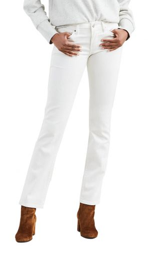 Levi's® 712 slim jeans western white