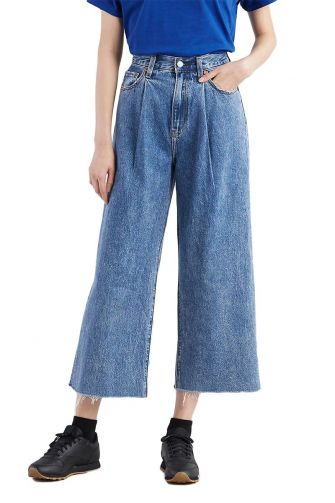 Levi's®Ribcage pleated cropped jeans now and then