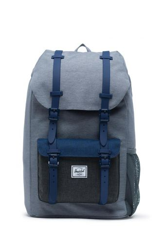 Herschel Supply Co. Little America Youth backpack mid grey crosshatch/medieval blue