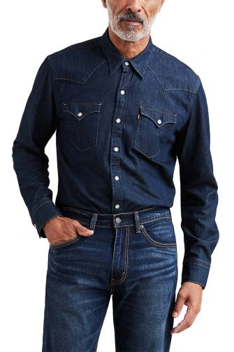 Levi's® Barstow western shirt red cast rinse