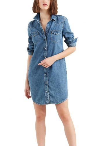 Levi's® Ultimate western dress back to life medium indigo