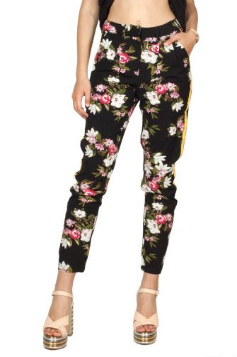 Rut and Circle floral side stripe pant