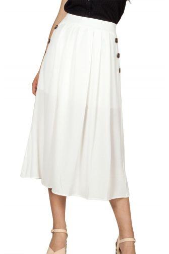 Rut and Circle μίντι φούστα λευκή