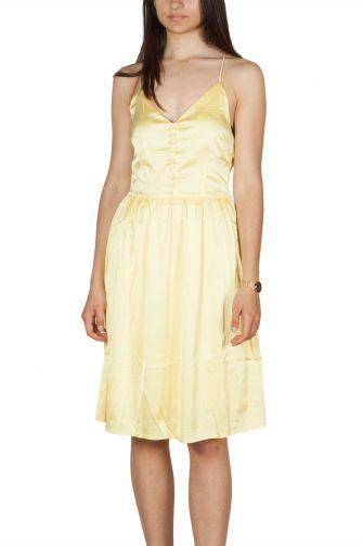Rut and Circle τιραντέ σατέν φόρεμα κίτρινο