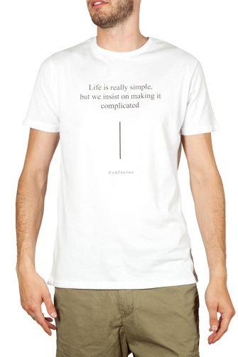 Bigbong t-shirt λευκό με απόφθεγμα του Κομφούκιου