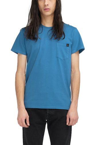 EDWIN pocket t-shirt blue sapphire