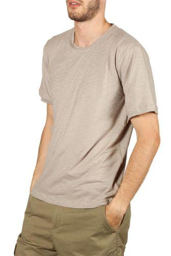 Emanuel Navaro slub t-shirt sand