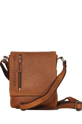 Hill Burry men's flapover leather bag brown