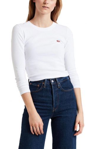 Levi's® Long sleeve baby tee white