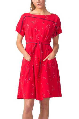 Skunkfunk Igantzi Lyocell slip-on φλοράλ φόρεμα κόκκινο