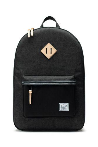 Herschel Supply Co. Heritage Offset backpack black crosshatch/black
