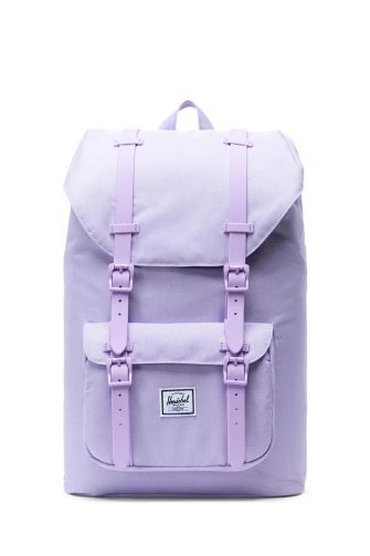 Herschel Supply Co. Little America mid volume backpack lavendula crosshatch/rubber