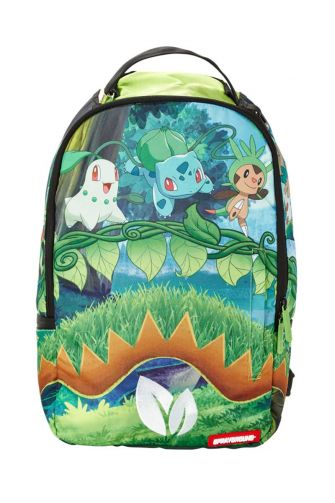 Sprayground backpack Pokemon grass shark
