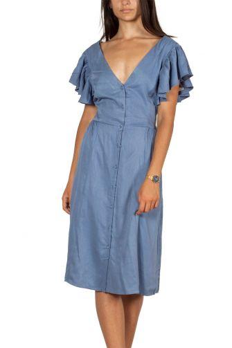 Artlove φόρεμα με κουμπιά και V-πλάτη