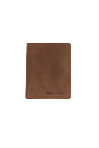 Hill Burry men's leather vertical wallet with stitch detail - RFID