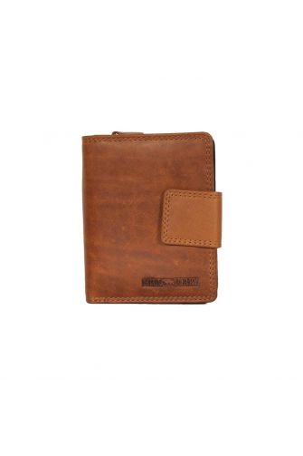 Hill Burry men's leather vertical wallet brown