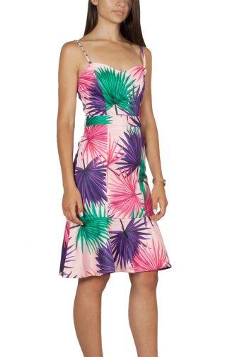 Migle + me Jungle print φόρεμα με τιράντες