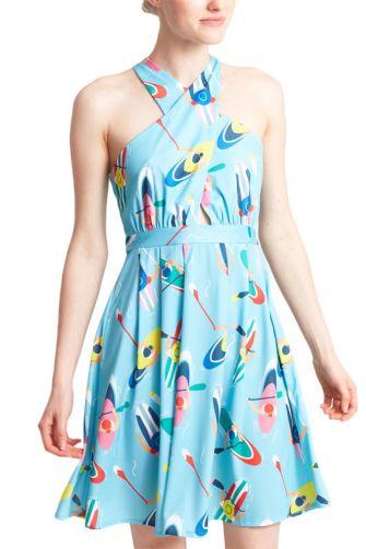 Migle + me Bilbao φόρεμα με χιαστί τιράντες