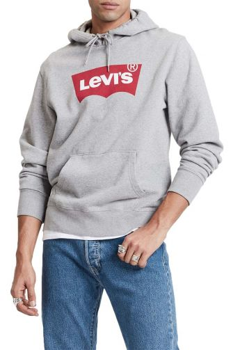 Levi's® Logo hoodie heather grey
