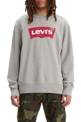 Levi's® Logo crewneck sweatshirt heather grey