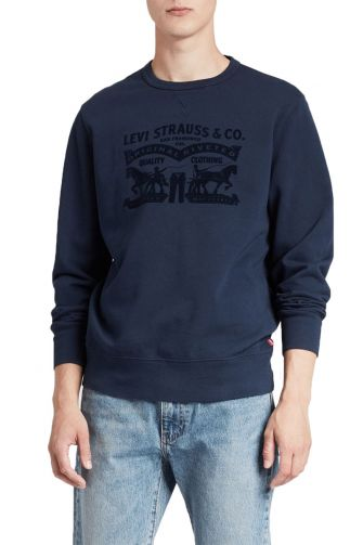 Levi's® Graphic crewneck sweatshirt blue