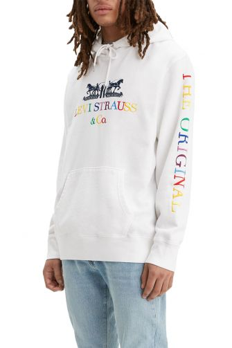Levi's® 90's logo graphic hoodie white