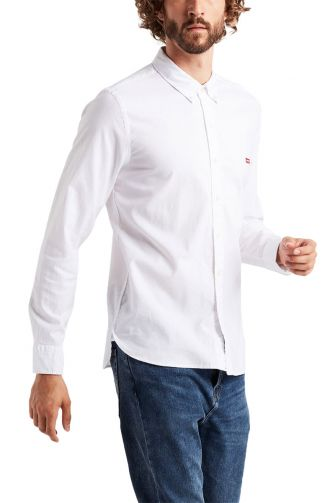 Levi's® Long sleeve Housemark shirt white