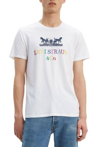 Levi's® 2-horse graphic t-shirt white