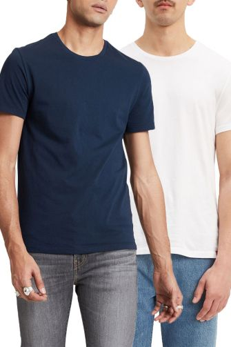 Levi's® slim fit crewneck t-shirt 2 pack blue/white