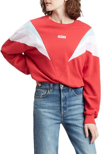 Levi's® Florence crew neck sweatshirt red
