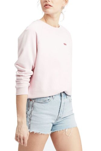 Levi's® relaxed graphic crew sweatshirt pink